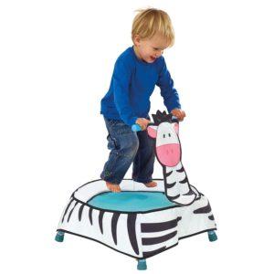 Mini trampoline zèbre pour les enfants à partir de 12 mois